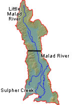 Lower Bear - Malad Map